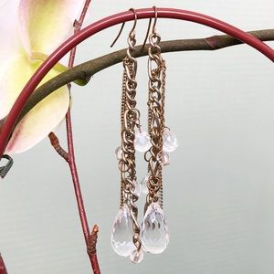 Jewelry - Antique Gold Beaded Chandelier Earrings